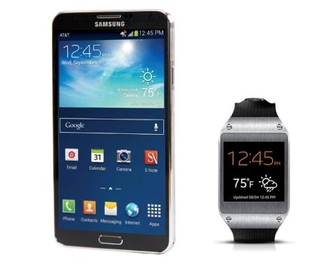 Galaxy Gear thường được đính kèm với Galaxy Note 3.