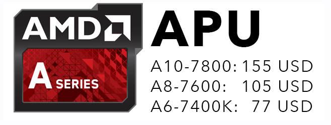 AMD ra mắt APU trị giá 155/105/77 USD