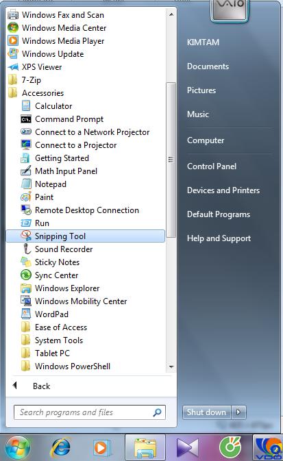 Cách chụp ảnh màn hình không cần phần mềm thứ 3 bằng công cụ Snipping Tool