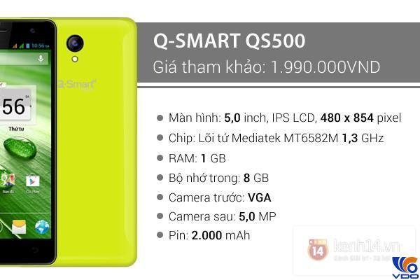 Điện thoại giá rẻ dưới 2 triệu - Q-Smart QS500