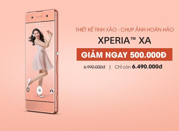 Tin mới nhất về giá điện thoại thoại Sony Xperia XA