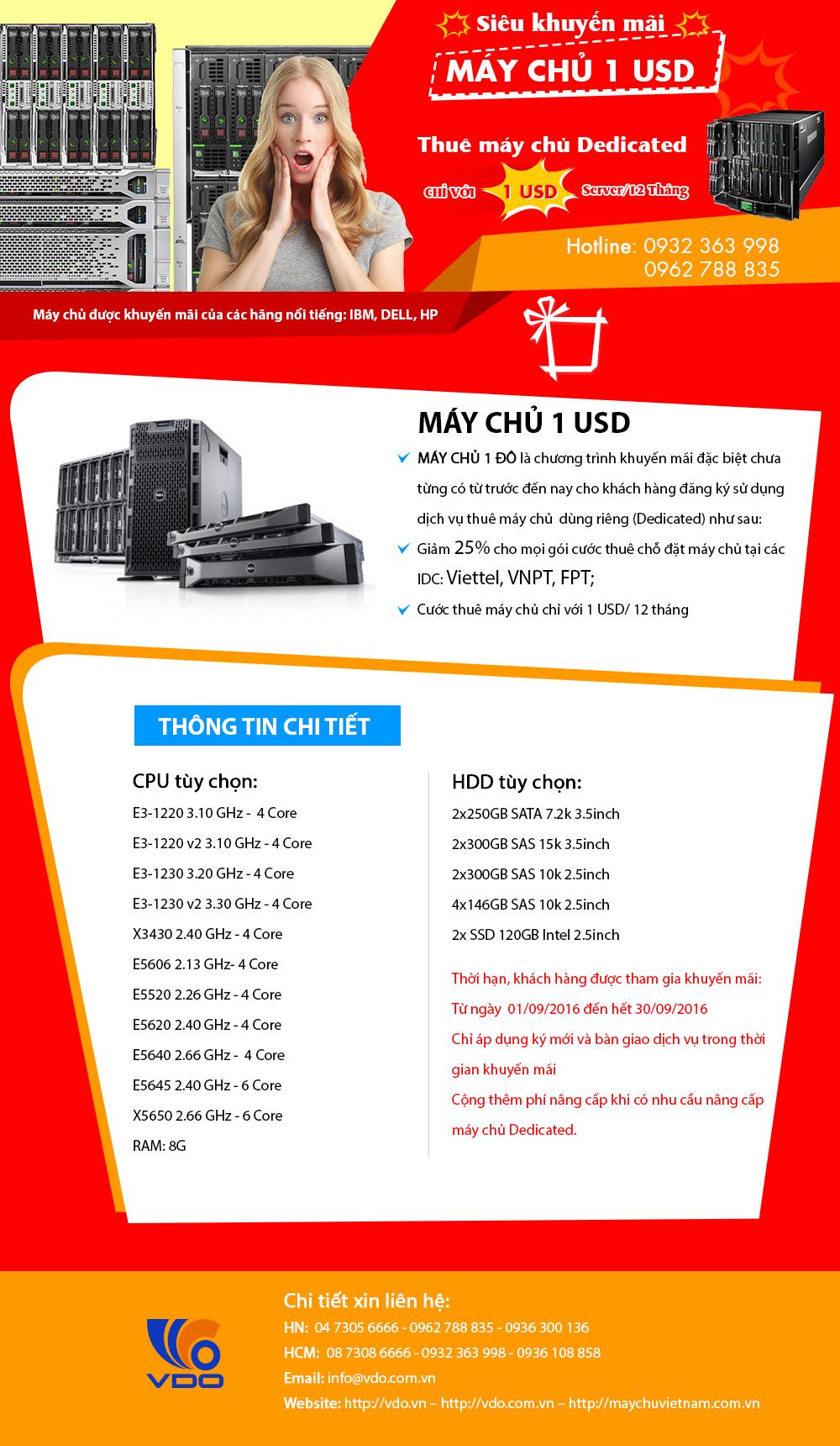 THUÊ MÁY CHỦ 1 USD