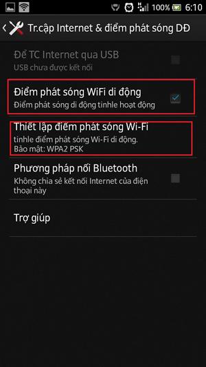 Cách phát WiFi bằng điện thoại Android