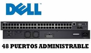 Dell Networking N2048 L2 48x 1GbE + 2x 10GbE SFP+ fixed ports Stacking IO to PSU airflow AC