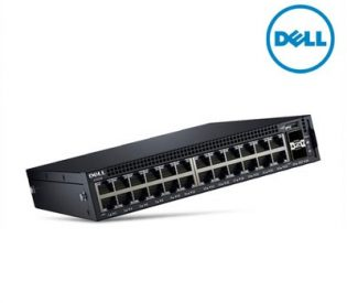 Dell Networking X1026P Smart Web Managed Switch 24x 1GbE PoE and 2x 1GbE SFP ports